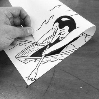 Gambar Keren Kertas Hitam Putih Dayung